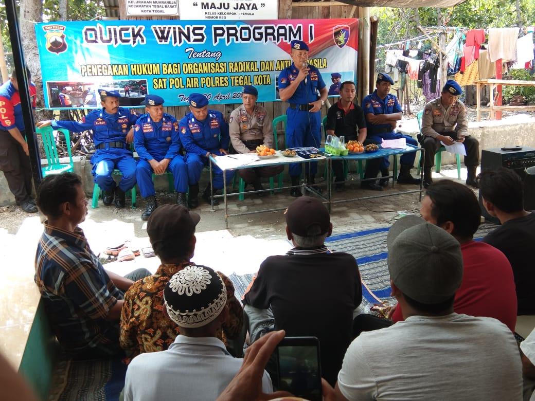 Sat Polair Sosialisasikan Quick Wins Program 1 Kepada Masyarakat Pesisir Tribrata News Jawa Tengah